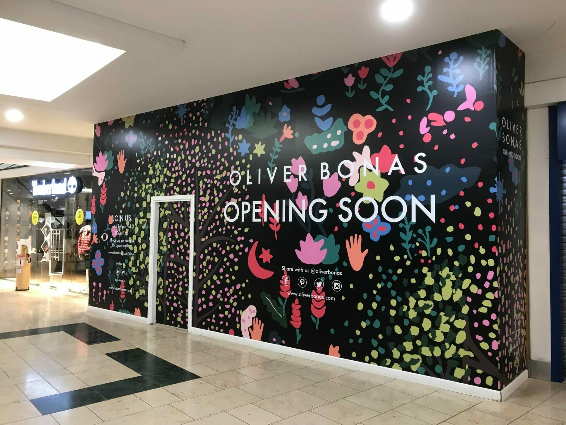 Oliver Bonas Retail Graphics