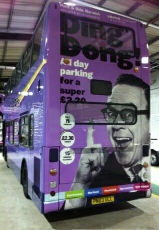 Bus wrap service