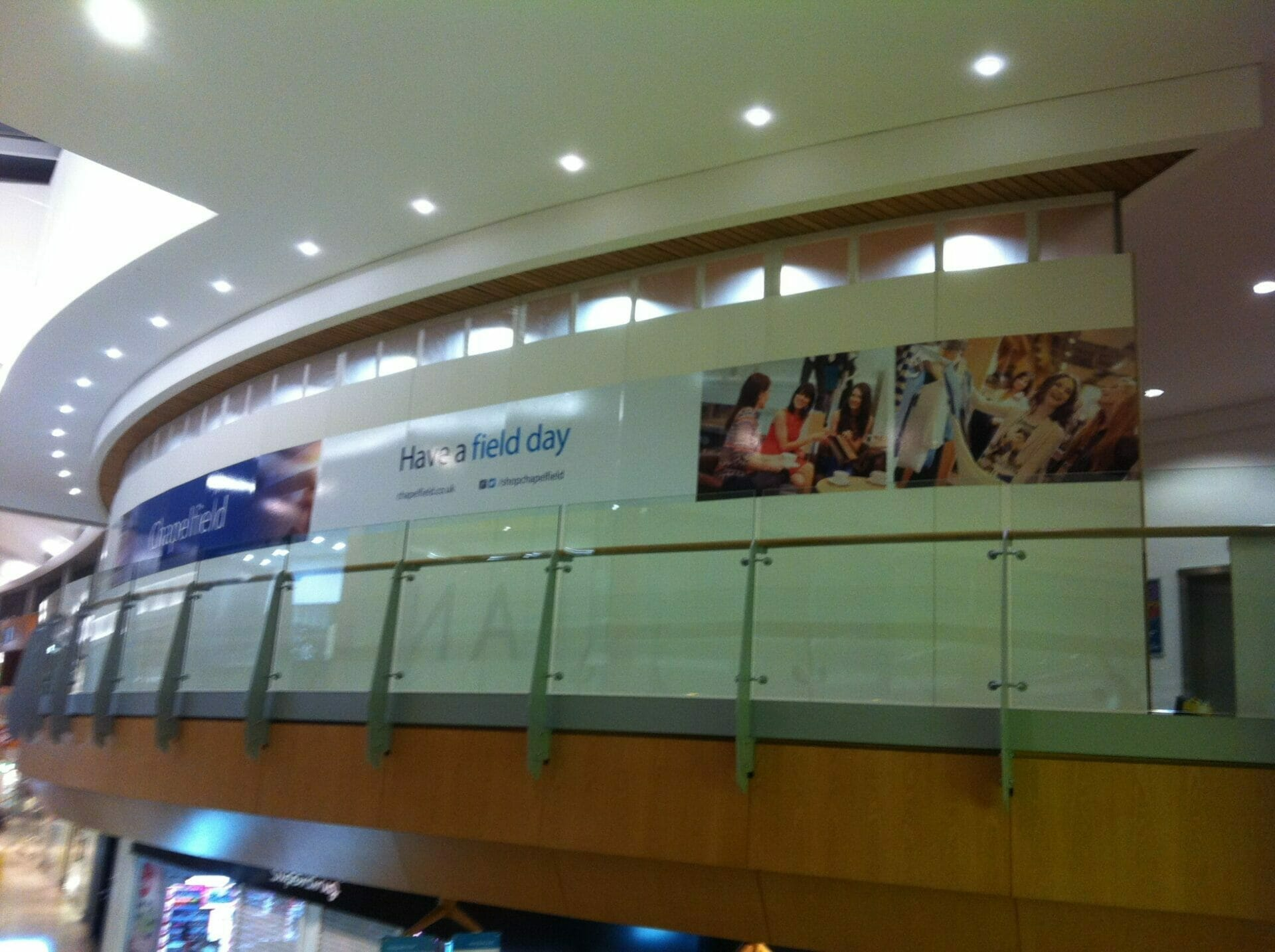 More custom vinyl wall stickers in a shopping centre